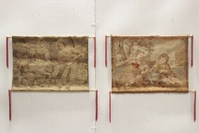 2 Pictorial Wall Hanging Tapestries