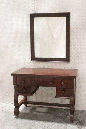 American Mahogany Dresser W/ Matching Mirror