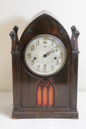 Victorian New Haven Mahogany Cased Clock
