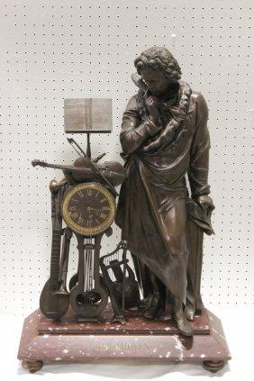 French 19th Century Bronze Clock