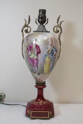 French Antique Sevre's Porcelain Lamp