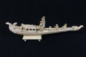 Possible Antique British India Ivory Carving