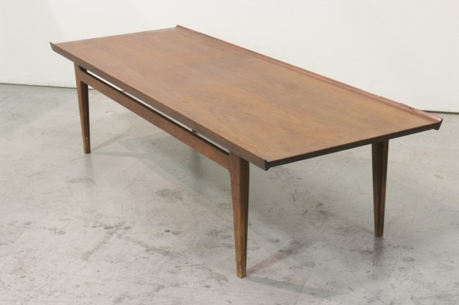 Mid century teak wood table by France and son Denmark  : 440355647l from www.liveauctioneers.com size 650 x 433 jpeg 33kB