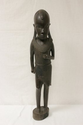 African Iron Wood Carved Figure