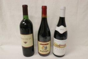 3 Bottles Of California Wine