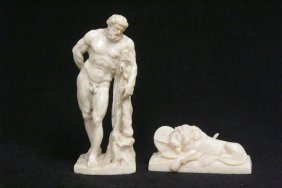 2 European Ivory Carvings