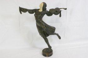 Austrian Ivory & Bronze Sculpture By J. Ulrich