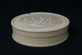 French Antique Ivory And Tortoise Shell Box