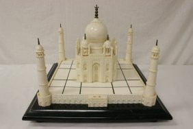 A Large Ivory Carved Model Of Taj Mahal