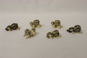 6 Exceptionally Well Carved Japanese Netsuke