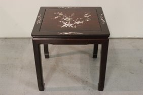 Chinese Rosewood Square Table With Mop Inlaid