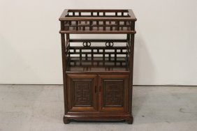 Chinese Rosewood Carved Cabinet/shelf