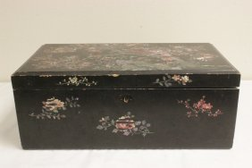 Chinese Antique Lacquer Lapdesk W/ Mop Inlaid