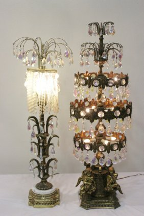 Pair Luster Table Lamps