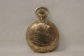 Hunter Cased Pocket Watch By Atlas Watch Co.