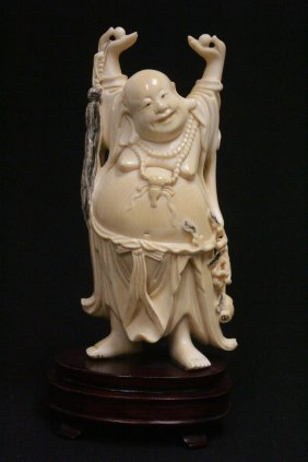 Chinese Antique Ivory Carved Standing Buddha
