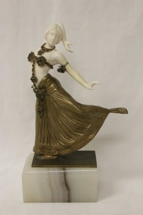 Austrian Bronze Ivory Sculpture By T. Ullmann