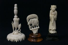 3pc Ivory Carving