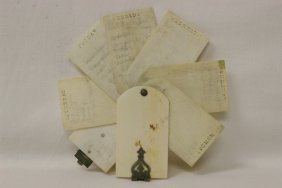 Antique Ivory Note Pad