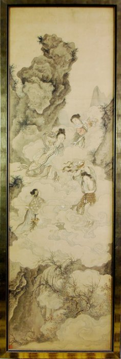 A Fine Quality Chinese Scroll Painting, Qing Dynas