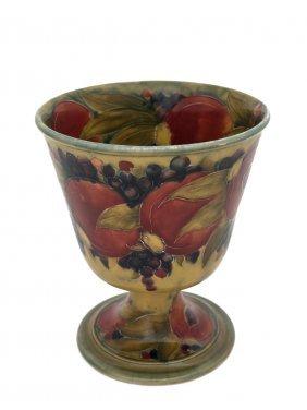 A Moorcroft €œpomegranate€ Pattern Goblet Vase,