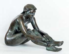Phillip Piperides Seated Nude-danya