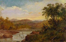 James Howe Carse (1819?-1900) Mount Macedon Looking