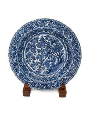 A Chinese €œkraak€ Dish Painted With Persimmon Bush