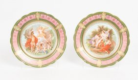 A Pair Of Venezia Porcelain Cabinet Plates With