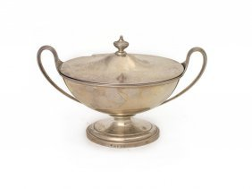 A George Iii Sterling Silver Boat Shaped Sauce Tureen
