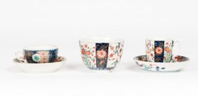 A Worcester €œkakiemon€ Pattern Tea Cup And Saucer,