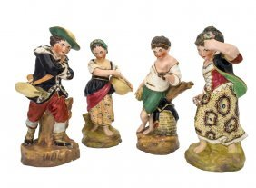 A Set Of Four Victorian Staffordshire Figures Of