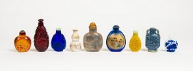 A Collection Of 10 Chinese Snuff Bottles