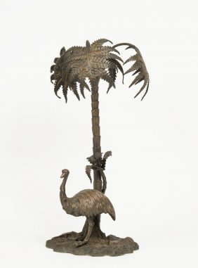 A Victorian Silver Plated Epergne Base With Palm Tree