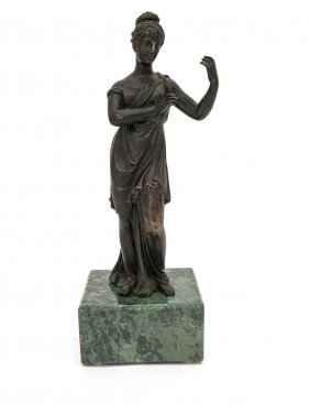 A 19th Century french Bronze Figure Of A Classical