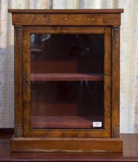 A Victorian Inlaid Walnut Glazed Display Case With