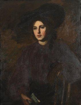 Emma Belloc Portrait In Black
