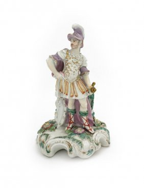 A Derby Figure Of Mars, Circa 1780 (missing Candle