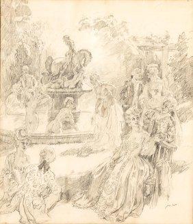 Norman Lindsay (1879-1969) Garden Party, Springwood