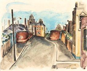 Alan Sumner (1911-1994) East Melbourne Street Scene