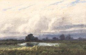 John Mather (1848-1916) Misty Landscape 1905