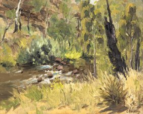 Criss Canning (born 1947) Yarra View 1966