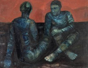 Anne Hall (born 1945) Two Figures
