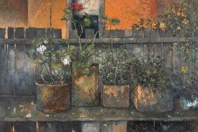 Desmond Norman (born 1930) Potted Plants Still Life