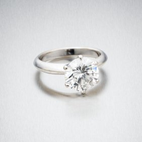 A 3.44 Carat Solitaire Diamond Ring, The Modern Round