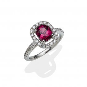 A Tourmaline And Diamond Cluster Ring, The