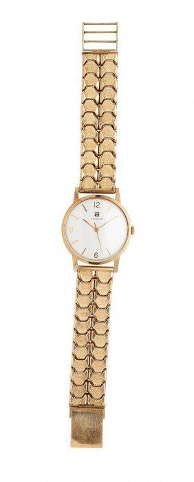 A Gentleman's Gold Wristwatch, Tissot, Circa 1960's.