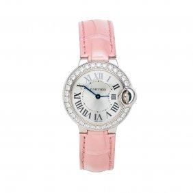 A Lady's Gold And Diamond Ballon Bleu Wristwatch,