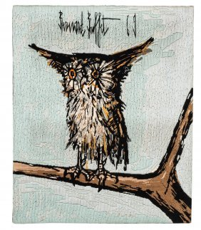 After Bernard Buffet French 20th Century Owl On A