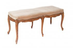 A Louis Xv Style Walnut Duet Stool, French 19th Century